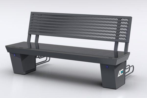 e-Ławka solarna AE05 RAL 7040
