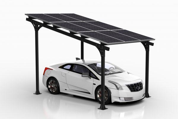 Solarny e-CarPort AE40 samochód elektryczny
