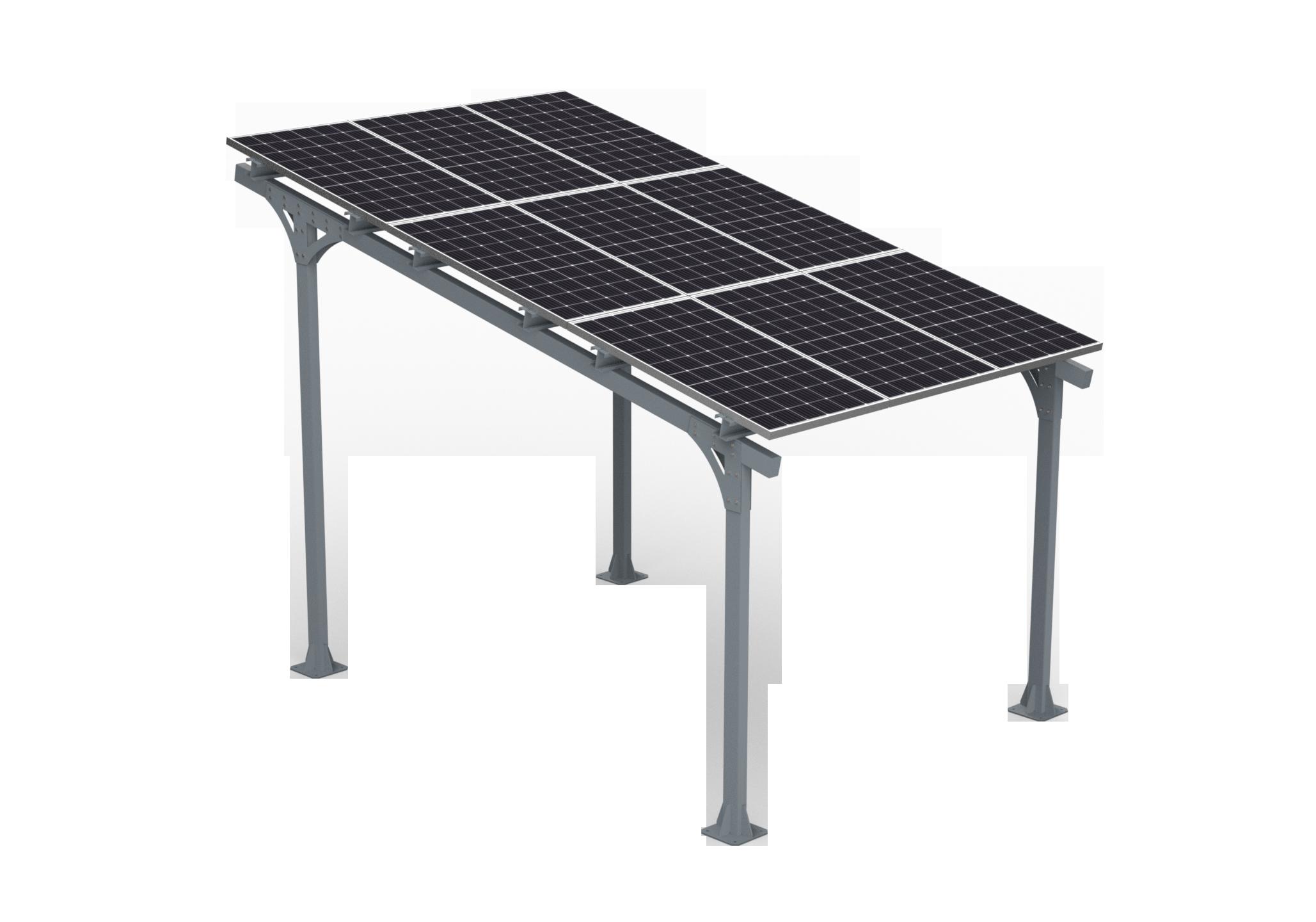 Solarny carport AE40